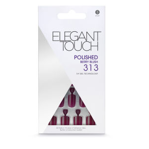 Elegant Touch Polished Nails - Berry Blush