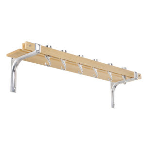 Hahn Rectangular Wall Rack - Natural Wood
