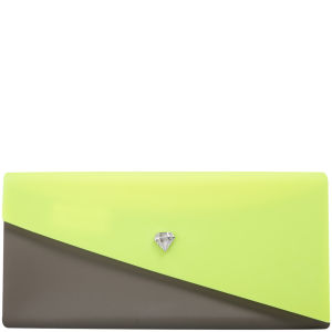 Melissa Women's Chromatic Clutch - Neon Yellow/Khaki