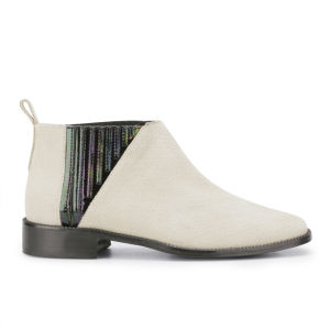 New Kid Women's Penny Teaser Textured Suede Ankle Boots - Neutral