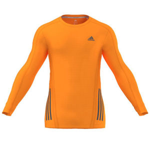 adidas Men's Supernova Running Long Sleeve Top - Solar Zest/Black