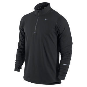 Nike Men's Element 1/2 Zip Running Top - Black/Silver