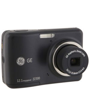 GE Z2300 Digital Camera - Black (12.4MP, 3 x Optical Zoom, 2.4 Inch LCD)