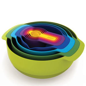 Joseph Joseph Nest Plus 9 Bowl Stacking Set (Multi) - 9 Piece