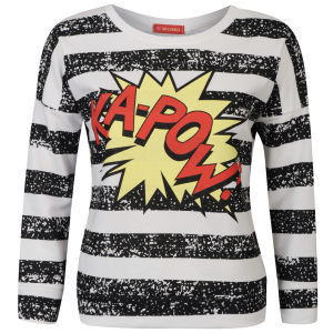 Influence Women's Kapow Stripe Sweatshirt - Black/White