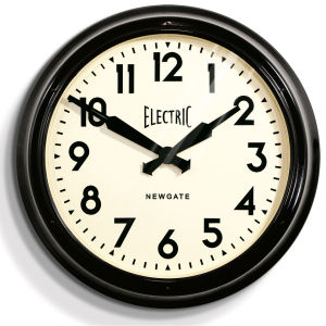 Vintage Electric Station Clock - Black