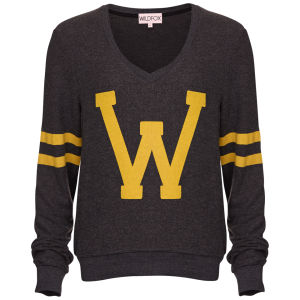 Wildfox Women's Letterman Jumper - Clean Black