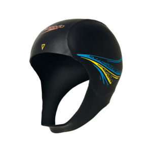 Speedo Elite Swim Cap - Black/Yellow/Blue - One Size