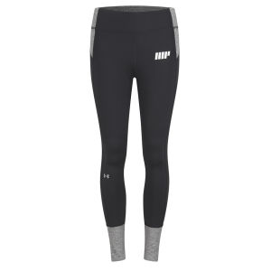 Damen Under Armour Strom Reflective Heather Leggings - Schwarz