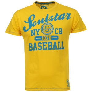 Soul Star Men's Baseball T-Shirt - Yellow