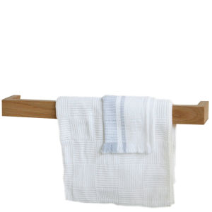 Natural Oak Single Towel Rail 60 cm