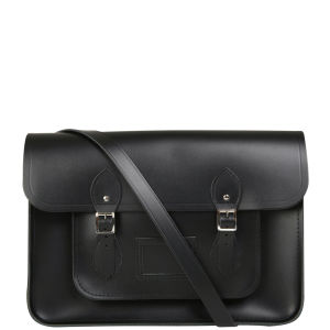 Cambridge Satchel Company 15 Inch Leather Satchel - black