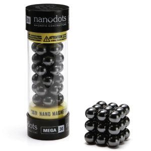 Mega Nanodots Magnetic Constructors Black - 30 Dots