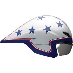 Bell Javelin Cycling Helmet Silver/Blue Stars