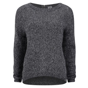 Vero Moda Women's Tango Zip Jumper - Dark Grey