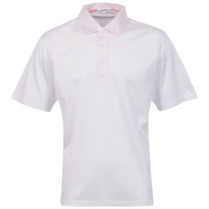 Calvin Klein Men's 3 Button Golf Polo - White/Pink