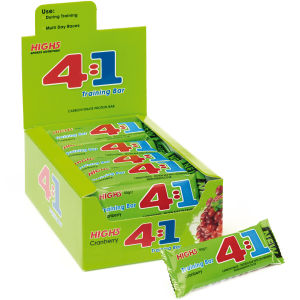 High5 4:1 Carbohydrate Protein Training Bar Box of 25 Cranberry