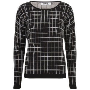 ONLY Women's Stella Check Jumper - Black