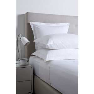 Christy 250 Egyptian Cotton Oxford Square Pillowcase - White