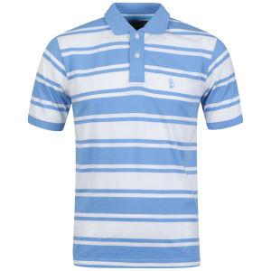 Barnaby Mac Men's Banbury Striped Polo - Ecru/Blue Stripe