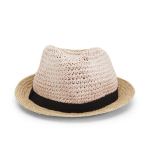 French Connection Women's Sandy Straw Hat - Natural/Blush