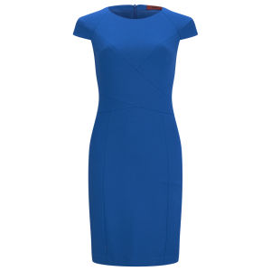 HUGO Women's Kemis Dress - Bright Blue
