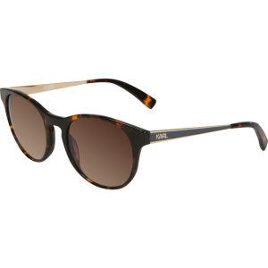 Karl Lagerfeld Oversized Round Sunglasses - Havana