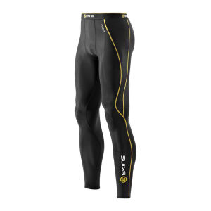 Skins A200 Active Compression Long Tights - Black/Yellow