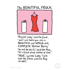 Edward Monkton Fine Art Print - Beautiful Frock