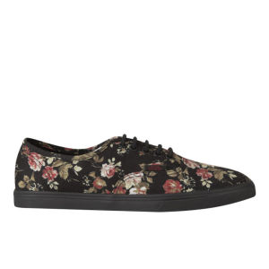 Vans Women's Authentic Lo Pro Floral Trainers - Black