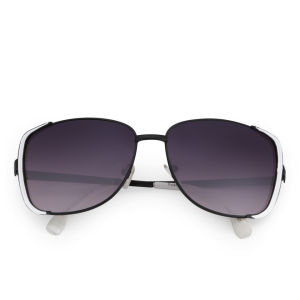 Eyecatcher Women's Oversized Sunglasses - White/Black