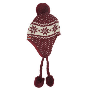Hunter Women's Fair Isle Peruvian Hat - Very Berry