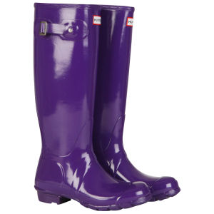 Hunter Women's Original Tall Gloss Wellies - Sovereign Purple