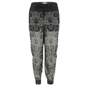 Helmut Lang Women's Mandala Viscose Print Trousers - Grey Multi