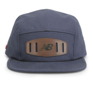 New Balance Unisex Street 5 Panel Flat Peak Baseball Cap - Cotton Twill Navy