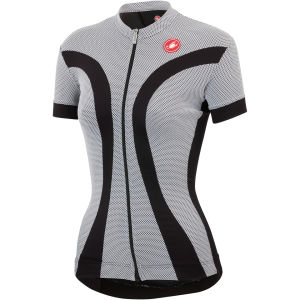 Castelli Ipnosi Full Zip Jersey - Black/White