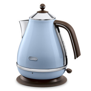 DeLonghi KBOV3001 Icona Vintage Kettle - Blue High Gloss
