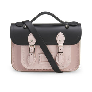The Cambridge Satchel Company Women's Mini Two Tone Satchel - Black/Peach Pink