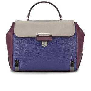 Marc by Marc Jacobs Leather Sheltered Island Top Handle Colour Block Wing Tote Bag - Ultra Blue Multi