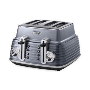 De'Longhi Scultura 4 Scheiben Toaster - Metal glänzend