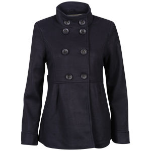 Brave Soul Women's Iark Funnel Neck Coat - Purple