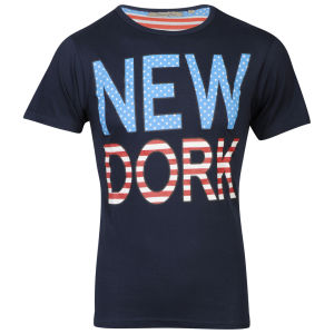 Brave Soul Men's 'New Dork' Graphic T-Shirt - Navy