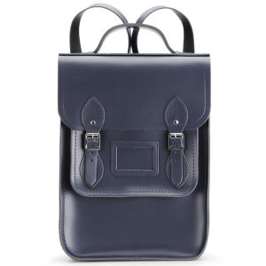 Cambridge Satchel Company New Portrait Leather Backpack - Navy