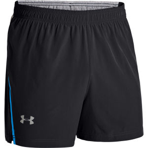 Under Armour Men's Max Vent Run Shorts - Black/Electric Blue/Reflective