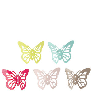 Metal Butterfly Hooks - Set of 5