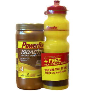 PowerBar Isoactive Drink 600g with free 750ml Water Bottle