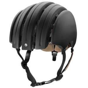 Carrera Premium Folding Helmet with Rear Light Matt Black