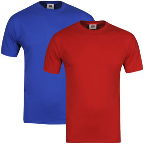 Nike Men's Short Sleeved T-Shirt Royal/Scarlett 2-Pack