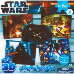 Star Wars Super 3D 5 Assorted Puzzles