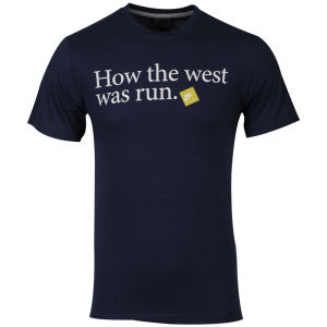Nike Men's Run How The West Was Run T-Shirt - Navy/White